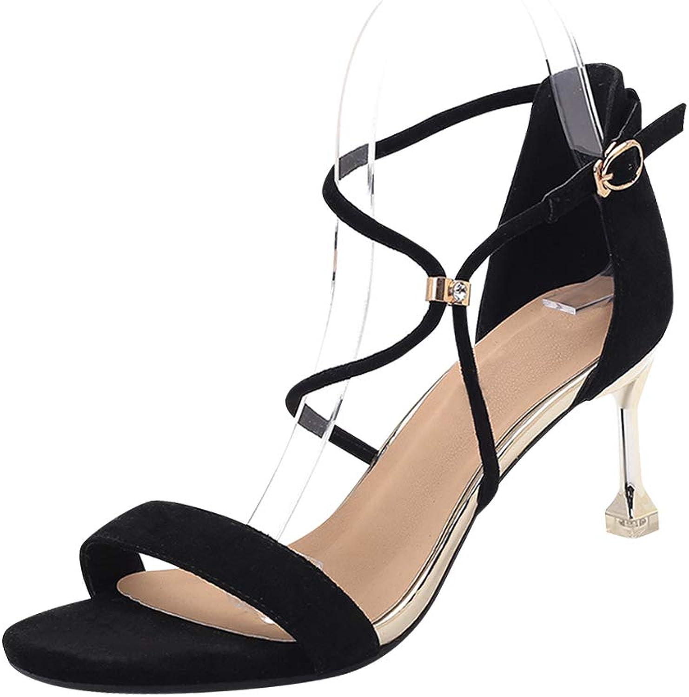 Uirend Women shoes Heeled Sandals - Ladies Kitten Heel Peep Toe Ankle Strap High Heels Buckle Wedding Bridal Party Dress shoes
