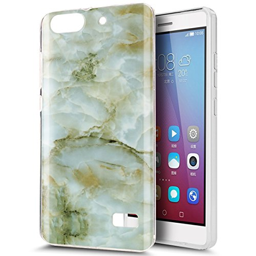 Cover Huawei Honor 4C,Cover Huawei G Play Mini,Custodia Cover per Huawei G Play Mini/Honor 4C,Lucido marmo texture patte ottile Bumper Case Custodia Cover per Huawei G Play Mini/Honor 4C,Verde Marble