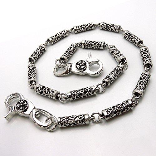 [スワンユニオン] swanunion 透かし柄 ウォレットチェーン メンズ アクセサリー 財布に ズボンに 銀彫刻風[w42]