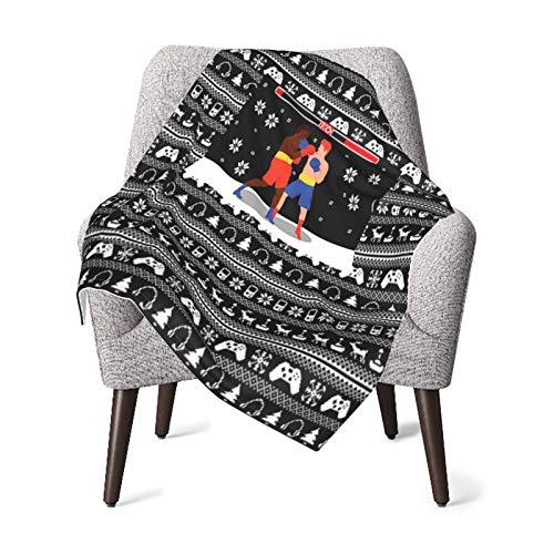 Babydecke / Bettüberwurf, Motiv: Weihnachtsgamer-Ko, extra weich