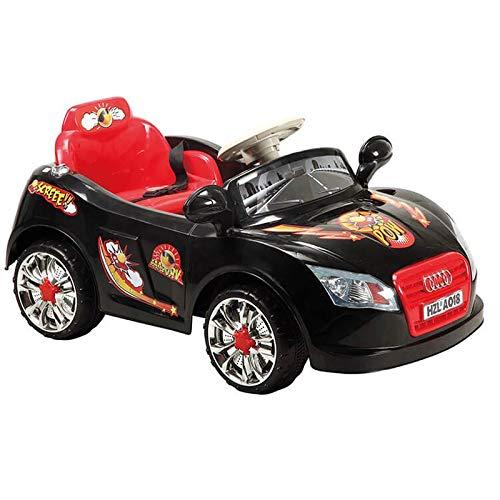 Elektro Kinderauto A018 mit Fernbedienung 6V, Einsitzer mit Licht und Musik schwarz