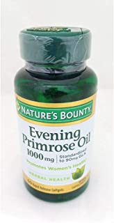 Nature's Bounty Evening Primrose Oil Natural Support for Women with PMS Menopause Relief 1000mg 60 Softgels