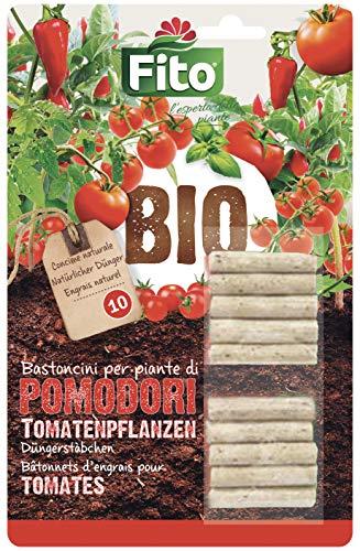 Fito X130211 Concime Organico in Bastoncini Pronto all'Uso, Ideale per Tutti i Tipi di Pomodoro, Verde