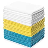 Zeppoli Reusable Microfiber Cleaning Cloth Set - 12 x 16 Inches Microfiber Cloth - 24 Pack Wash…