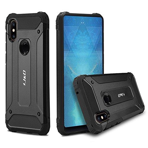J&D Compatible para Xiaomi Mi Mix 2S Funda, [Armadura Delgada] [Doble Capa] [Protección Pesada] Híbrida Resistente Funda Protectora y Robusta para Xiaomi Mi Mix 2S - Negro