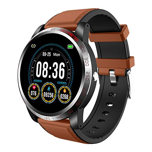 OYG Smart Watch, Fitness Tracker Health Watch with Heart Rate Monitor Blood Oxygen SpO2 Monitor, Waterproof Activity Tracker Fitness Watch with Sport Mode Sleep Monitor (Coffee)