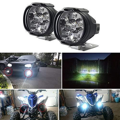 Mioloe 2 Pack Motocicleta Impermeable LED Proyector Luces de Trabajo Luz antiniebla Delantera Auxiliar para camión de Moto