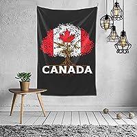 カナダの旗の木のタペストリー壁掛けアートタペストリー家の居間の寮の装飾60X40インチ