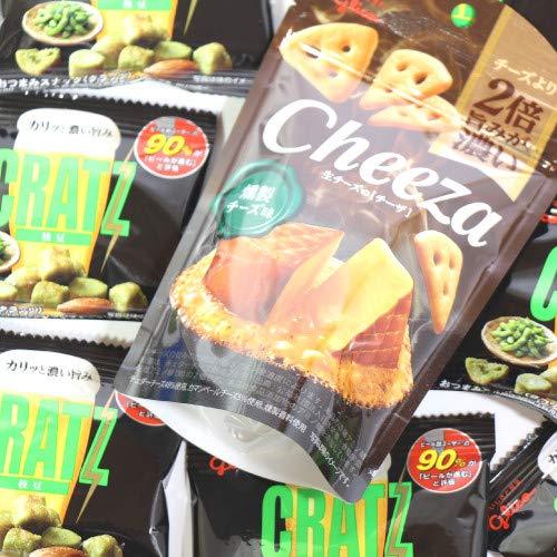 グリコ おつまみスナック クラッツミニ枝豆8個&生チーズのチーザ燻製1個 セット おかしのマーチ