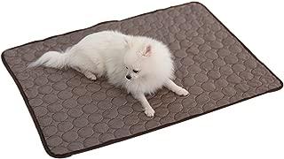 ペット クールマット 冷却マット 熱中症 暑さ対策 冷感マット 涼しい生地 洗濯機で洗える ひんやりマット 防菌 安全素材 冷却シート 犬猫通用 多用途(M, ブラウン)