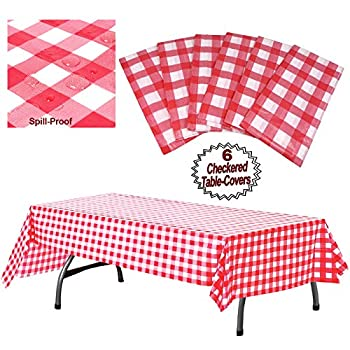 """Plastic Checkered Tablecloth 