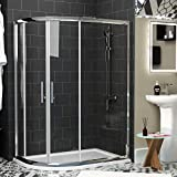 Royal Bathrooms <span class='highlight'>1000</span> x <span class='highlight'>800</span>mm Walk in <span class='highlight'>Offset</span> <span class='highlight'>Quadrant</span> <span class='highlight'>Shower</span> <span class='highlight'>Enclosure</span> 6mm Glass Reversible Door