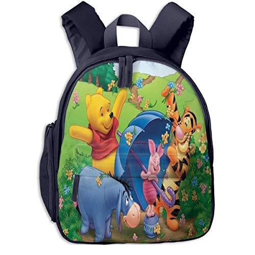 JKSA Springender Tiger und Winnie The Pooh Kinderrucksäcke Schultaschen für Jungen & Mädchen Vorschultasche Niedlicher Cartoon-Rucksack Größe für Kindergarten, Vorschule