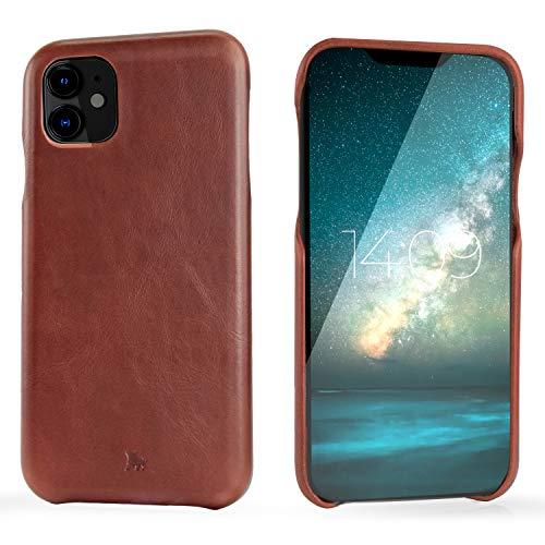 "BULLAZO Menor Classic – kompatibel mit iPhone 11 XI Hülle Schutzhülle Handy Hülle aus hochwertigem Leder braun 6,1"""