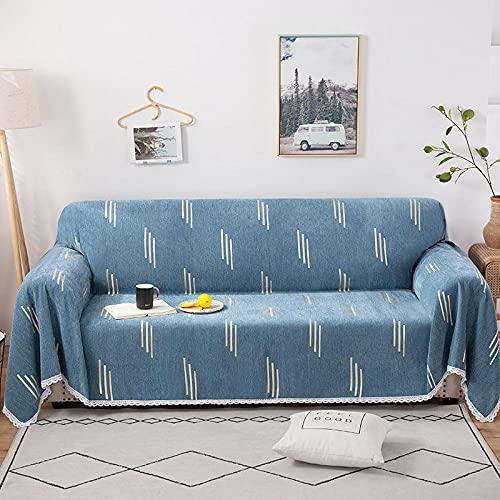 haoyunlai Mantas para Cama Manta de sofá Edredón de servilleta de Arena Conjunto de sofás para el hogar Setchair Conjunto-Azul Vertical_180 * 280cm