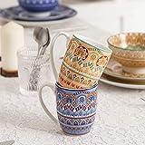 Vancasso Tafelservice Porzellan, Mandala 32 teiliges Essgeschirr Kombiservice, handbemaltes Geschirrset für 8 Personen, böhmischer Stil - 6