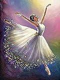 YSCOLOR Diamond Painting Completa La Fresa Rotonda 5D DIY Pittura Diamante Ballerino di Danza Classica Ragazza Regalo A Casa Decorazione 3D Strass Ricamo Punto Croce 5D 30X40Cm