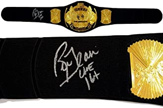 Ric Flair Signed Replica HWT Championship Belt - Autographed Wrestling Robes, Trunks and Belts