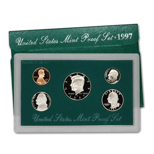 1997 S US Mint Proof Set Original Government Packaging (United States Mint Proof Set 1997 Value)