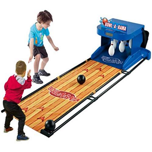 CNTL-COVER Faltbare Kinder Elektro-Bowling-Satz, LED-Anzeige mit Punkten Indoor Sport für Eltern-Kind-Interactive-Spielzeug-Kugel
