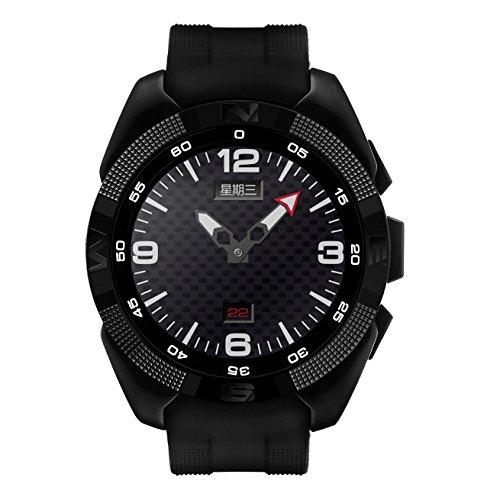 CountdownPas Ronda de Pantalla táctil Reloj de Pulsera Inteligente Smartwatch pedómetro cronómetro Recordatorio sedentario múltiples Idiomas para iOS y Sistemas Android
