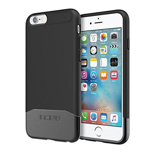 iPhone 6S Case, Incipio Edge Chrome Case [Hard Shell][Shock Absorbing] Cover fits Both Apple iPhone 6, iPhone 6S -Black/Black