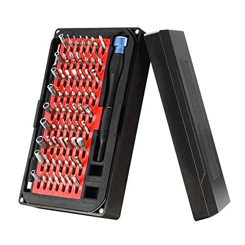 Juego de destornilladores de precisión 76 en 1, herramientas de reparación profesionales magnéticas multifunción con controlador de 63 bits para computadoras portátiles, teléfonos, consolas de juegos,