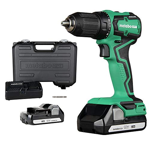 Metabo HPT Cordless Drill | 18V | Sub-Compact | Brushless Motor | Lithium-Ion Batteries | Lifetime Tool Warranty | DS18DDX