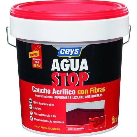 CEYS CE903314 AGUASTOP CAUCHO FIBRAS NEGRO 5KG