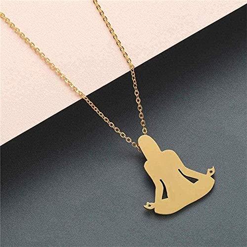NC110 Collar Collar Llamativo Collar de Acero Inoxidable Joyas para Wen Wolf Phoenix Yoga Ballet Deporte Cadena de Oro Colgante Collar Regalo para niñas