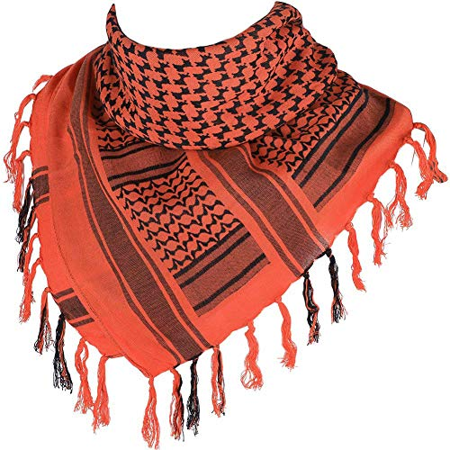 """100% Cotton Scarf Military Shemagh Arab Tactical Desert Keffiyeh Thickened Head Neck Scarf Wrap for Women and Men 43""""x43"""""""