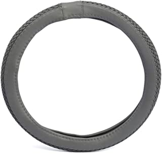 Xcessories 2724632809876 Leather Type Wooven Steering Wheel Cover - Grey