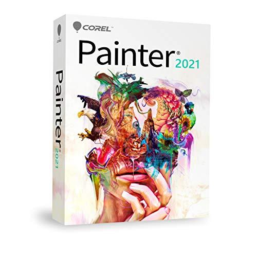COREL Painter 2021 EDU - Education - Schulversion - DE / EN / FR für Windows 10 / Mac ab 10.14 - Slim-Case