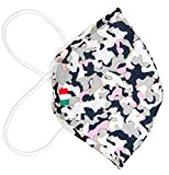 Fascia Protettiva Conca, Adulti, mimetica rosa, lavabile e riutilizzabile, tessuto antibatterico certificato OEKO-TEX, protegge naso e bocca, Made in Italy