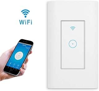 スマートWiFiライトウォールスイッチホーム セーフライフ 壁スイッチ 智能スイッチ、遠隔操作、音声、タイミング、Alexa Google Home IFTTT IOS/Android、AC 110V〜125V、APPコントロール (1 ギャング)