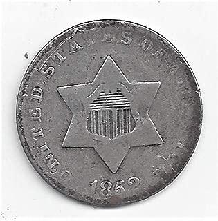 1852 Silver 3C Piece Three-Cent VG-8