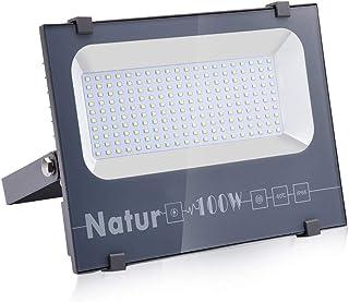 comprar comparacion 100W LED Foco Exterior de alto brillo,10000LM Impermeable IP66 Proyector Foco LED, Iluminación de Seguridad, 6000K Blanco ...