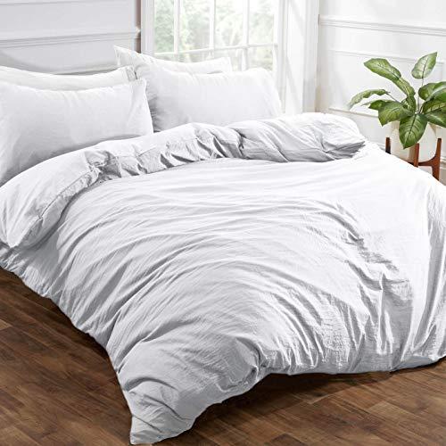 Brentfords - Set di biancheria da letto in microfibra spazzolata, effetto lino lavato, colore:...
