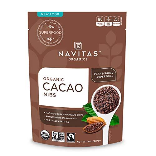 Navitas Organics Cacao Nibs, 8 oz. Bag, 15 Servings — Organic, Non-GMO, Fair Trade, Gluten-Free