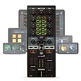 Reelop Mixtour - Controlador de DJ USB Portátil para iOs, Android, Mac y PC, Conexión de Auriculares de 3,5 mm ySalida Maestra RCA