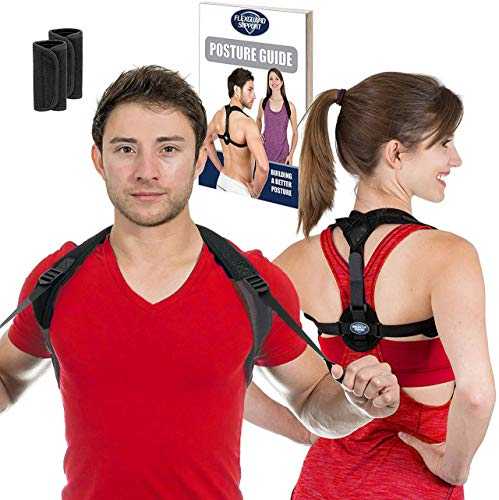 Posture Corrector for Women and Men - Best Fully Adjustable Upper Back...