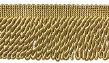 7,6cm lang gold Edelstahldraht Fransen Rand, Stil #
