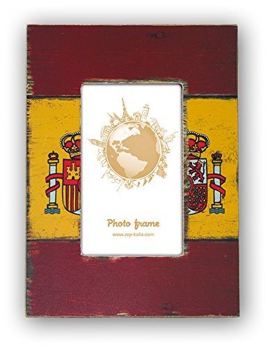 Zep S.r.l HHSP Bilderrahmen Flagge Spanien, Holz, 10x15