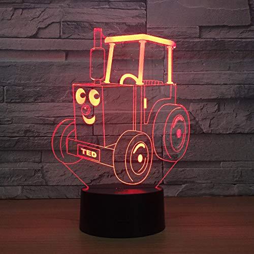 Voiture De Jouet Nouveau Cadeau De Fantaisie Télécommande 3D Led Nuit Lampe Lampe Cadeau D'Anniversaire Usine 3D Luminaires