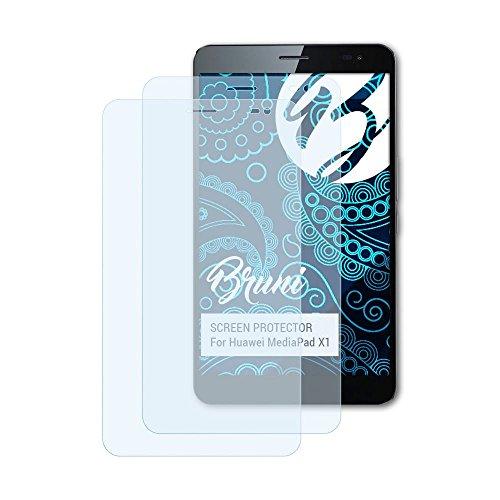 Bruni Schutzfolie kompatibel mit Huawei MediaPad X1 Folie, glasklare Bildschirmschutzfolie (2X)