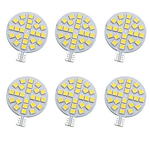 GRV T10 921 194 ampoules LED 24–5050 SMD Lampe Super Lumineux AC 12 V/DC 12 V -24 V pour RV Bateau Iandscaping plafond dôme intérieur lumières (2ème génération)
