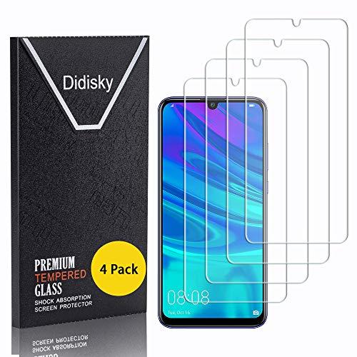 Huawei Honor 10 Lite Unidades Cristal Templado 9H Dureza//Alta Transparencia//Anti-Huella Protector de Pantalla NBKASE Protector Pantalla para Huawei P Smart 2019 2 Piezas