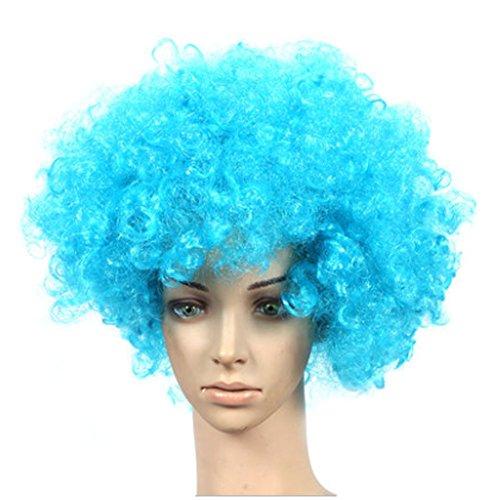 Lot de 2 Halloween Costume Party Clown Perruques cheveux, Ciel Bleu