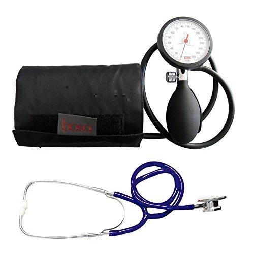 Blutdruckmessgerät Oberarm Original Boso K 1 shock protected Neuware + Doppelkopf Stethoskop Blau Stetoskop Doppelkopfsttehoskop Tiga-Med