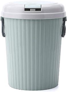 C-J-Xin Small Trash Can, Save Space Handle Plastic Wastebasket Waste Bin Hotel Corner Coffee Shop Garbage Bin Multiple Col...
